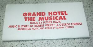 Donmar - Grand Hotel - The Musical - programme, signed by some of the cast 2005
