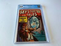 MYSTERY TALES 37 CGC 5.0 CARL BURGOS MIRROR COVER ATLAS COMICS 1956