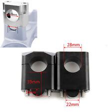 39mm CNC Pro Taper Handlebar Fat Bar Riser Mount Clamp For Kawasaki 7/8  - 1 1/8