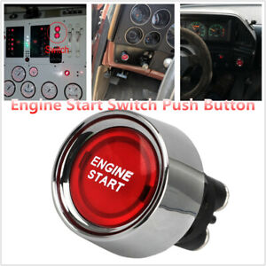 1PCS 12V Racing Car Red Illuminated Engine Start Switch Push Button Race Starter