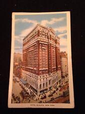 Vintage Hotel McAlpin Postcard Postmark 1934 New York City