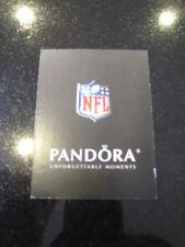 Pandora NFL seal  Football authenticity Charm verification card Authentic