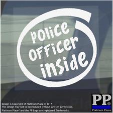 1 x Agente di Polizia all'interno-Finestra, Auto, Furgone, STICKER, SEGNO, veicolo, Adesivo, diritto, gli aiuti