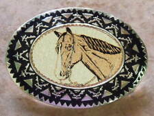 HAND CRAFTED COPPER HORSE HEAD WESTERN BELT BUCKLE