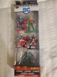 Nano Metalfigs DC 5 pack Superman Supergirl Aquaman Lex Luther Batman NIB