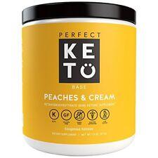 Perfect Keto Base Exogenous Ketone Supplement - BHB Salts (Peaches & Cream)