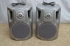 Silver Aiwa Speaker System Model SX-NA332 6 Ohm Set of 2 Good Working Condition