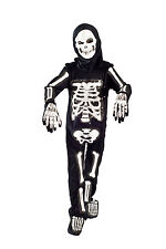 Skeleton Halloween Costume boys Light up Size 5-6, 6-8 glowing Fiber Optic Kids