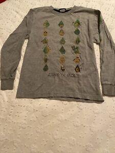 boys volcom long sleeved t-shirt s/p(10) gray (stone yr face)