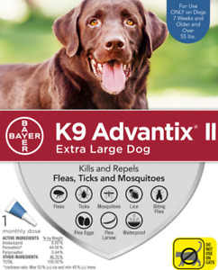 K9 Advantix II Flea, Tick & Mosquito for Extra Large Dogs Over 55-lbs 1 DOSE