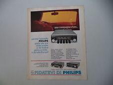 advertising Pubblicità 1967 AUTORADIO PHILIPS