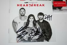 LADY ANTEBELLUM  Heart Break With Autographed CD Booklet 6/09 NEW