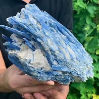 5.25LB Rare!! Natural beautiful Blue KYANITE with Quartz Crystal Specimen Rough