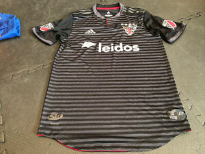 ADIDAS AUTHENTIC MLS TEAM JERSEY WASHINGTON DC UNITED BLACK ALT sz M