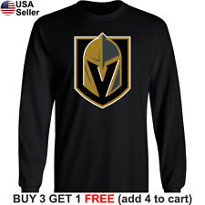 ed94917413a Las Vegas Golden Knights Long T-Shirt Men Sleeved Cotton LV Graphic