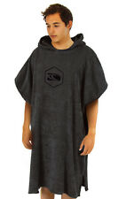 CARVE  ADULT UNISEX RADIATOR BEACH PONCHO TOWEL - CHARCOAL