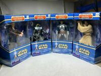 """Star Wars Ep II Attack of the Clones 10"""" Vinyl Figures Completed Set (4)+ Extras"""