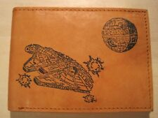 Mens Leather RFID Wallet-STAR WARS MILLENNIUM FALCON Image *Great Birthday Gift*