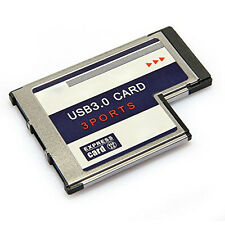3 Port USB 3,0 ExpressCard 54mm PCMCIA-Express-Card für Notebook GY