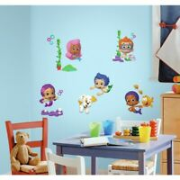 New BUBBLE GUPPIES Peel & Stick Wall Decals Kids Bedroom Toy Room Stickers Decor