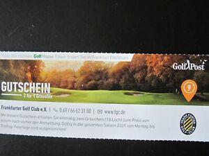 Greenfee Gutschein (2 für 1) Frankfurter Golf Club