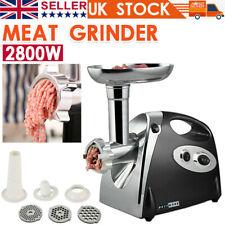 2800W Electric Meat Grinder Mincer Stainless Steel Sausage Maker Filler Kitchen