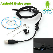 Waterproof OTG 7mm USB Endoscope Inspection Camera Borescope 6LED For Android