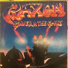 SAXON Power & The Glory Carrere Promo VG+ LP 1983 NWOBHM
