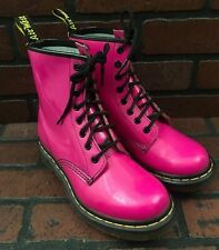 Dr. Martens 1460 Pink Patent Leather Boots Women's Size 6 US Men's US 5