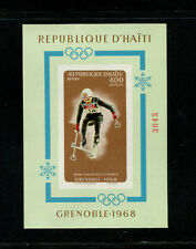 Haiti 1968 Grenoble Winter Olympics  Scott 609Gvar IMPERF Souvenir Sheet