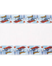 Superman Super Hero Party Supplies  - Printed Plastic Tablecover 1.8m x 1.3m