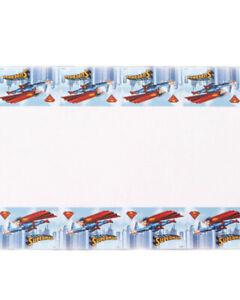 Superman Party Table Cover 1.8m x 1.3m Plastic - Superman Party Supplies