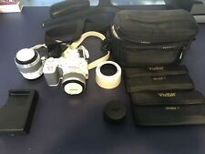 Nikon 1 V2 14.2Mp Digital Camera - White with two Lens set, Vivitar filters
