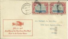US BEACON ISSUE-Sc#C11(pair) LAST DAY OF RATE-GRIFFIN CACHET(SCARCE)