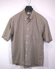 HB268 Lacoste Herren Hemd Shirt braun beige kariert Gr. L/42 Kurzarm regular