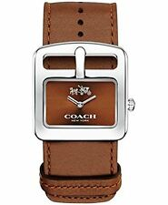 Coach Women'S Duffle Buckle Russet Leather Strap Watch 30Mm 14502334