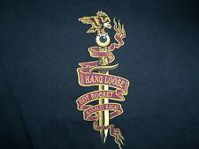 Hang Loose Hawaii Hanalei Kauai Surfing Hot Rocket Black Graphic Print T Shirt M