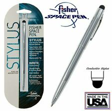 Fisher #M4 Series Chrome Space Pen with Conductive Stylus - #SM4C/S