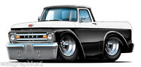 1961 1962 Ford F100 Truck Wall Stickers Graphics Decals Garage Bar Room Clings