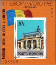 1980 Reunion in Europe Madrid Flag MS Romania Stamp MNH