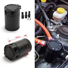 Aluminum Racing Baffled 3-Port Oil Catch Can/Tank/Air-Oil Separator Universal
