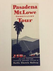PACIFIC ELECTRIC RAILWAY,MOTOR COACH,VINTAGE,MT. LOWE,PERY,BROCHURES,1930,TOURS