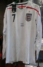 RARE NWT Authentic Umbro 2007 England Beckham player issue Game shirt Jersey XL