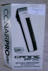 Conair Canine FX Dyna-Groom Professional 2-Speed Animal Clipper ~ NEW