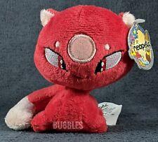 "NWT 2007 Red Kadoatie Neopets Petpet Mini Plushie Stuffed Animal 4"" toy holo tag"