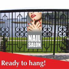 Nail Salon Banner Vinyl Mesh Banner Sign Flag Nail Spa Salon Beauty Spa Foot