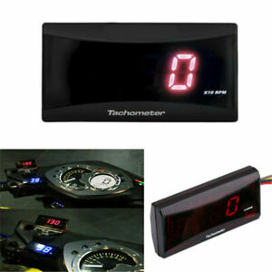 Universal Motorcycle Mini Tachometer RPM Meter LED Digital Display For Scooter