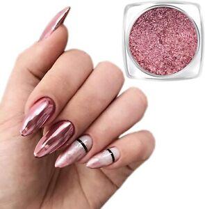 Rose Gold Mirror Nail Chrome Powder