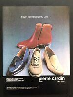 1982 Vintage Print Ad PIERRE CARDIN Shoes Men's Foot Fashion 80's