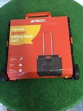 Folding Boot Cart - 25kg Shopping Trolley - Fold Up Wheel Cart - Amtech